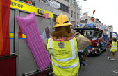 Firefighters taking part in Gay Pride in Brighton, UK 2009 - Howard Davies - 01-08-2009