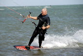 Kitesurfer, Littlehampton, UK 2009 - Howard Davies - 02-08-2009