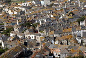 Terraced town housing on the Isle of Portland, Dorset, UK - Howard Davies - 20-08-2009