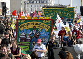 Trade Unions including RMT in protest for jobs at Labour Party Conference in Brighton , UK 2009 - Howard Davies - 27-09-2009