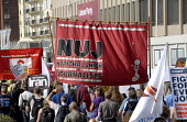 Trade Unions including NUJ in protest for jobs at Labour Party Conference in Brighton , UK 2009 - Howard Davies - 27-09-2009