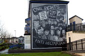 Civil Rights march mural, in the Peoples Gallery by the Bogside Artists, Derry. - Howard Davies - 20-11-2009