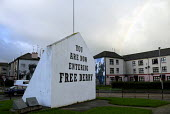 You are now entering Free Derry sign on Rossville Street in the Bogside, Derry. Free Derry corner. - Howard Davies - 20-11-2009