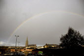 A rainbow over the city of Derry. - Howard Davies - 2000s,2009,cities,city,cityscape,cityscapes,CLIMATE,cloud,clouds,conditions,country,countryside,Derry,eni,environment,Environmental Issues,Irish,Londonderry,nature,Northern Ireland,outdoors,outside,pr