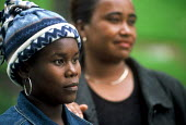 Refugee families from Liberia who have recently arrived in the UK as part of Gateway a UK government resettlement programme. The refugees had lived for more than a decade in camps in Guinea having fle... - Howard Davies - 01-08-2004