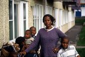 Families who are seeking asylum in Ireland at a Direct Provision Centre established by the Irish Government to house and care for refugees until their cases have been decided upon. Co Meath, Ireland 2... - Howard Davies - 01-08-2004