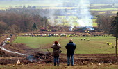 Locals watching removal of protesters against the Newbury bypass 1997 - Howard Davies - activist,activists,against,anti,bailiff,bailiffs,building site,burn,burning,bypass,demonstration,demonstrations,destruction,destroyed,development,Eco warrior,Eco warriors,environment,environment,envir