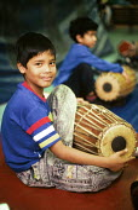 Tamil refugee children at mother tongue school, London, UK - Howard Davies - 01-08-2001