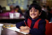 Tamil refugee children at mother tongue school, London, UK 1997 - Howard Davies - 01-08-1997