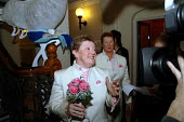 Elaine Gaston and her partner of sixteen years Reverend Debbie Gaston the first gay couple to ' marry ' when they signed the Civil Partnership Act at Brighton Town Hall. Three same-sex couples simulta... - Howard Davies - 01-08-2005
