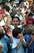 Bosnian Muslim refugee children in a refugee camp. Karlovac, Croatia. 1992 - Howard Davies - 1990s,1992,balkan,balkans,bosnia,bosnian,bosnians,camp,camps,CHILD,CHILDHOOD,children,croatia,croatian,Diaspora,displaced,eu,europe,european,europeans,foreign,foreigner,foreigners,immigrant,IMMIGRANTS