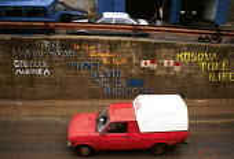 Pro NATO graffiti in post war Kosovo. Kosovo. 1999 - Howard Davies - 01-05-1999