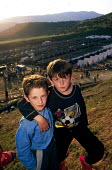Kosovar Albanian refugees in newly established NATO refugee camp. Stenkovic refugee camp, Macedonia. 1999 - Howard Davies - 01-05-1999