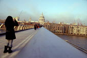 View of St Paul's Cathedral from the Millennium Bridge, London. - Howard Davies - 22-12-2006