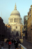 View of St Pauls Cathedral from the Millennium Bridge, London. - Howard Davies - 21-12-2006