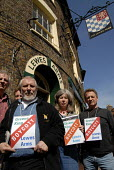 The Friends of the Lewes Arms protest to have Harveys beer, brewed in Lewes, restored to their local pub. Locals have led a boycott of the pub after Greene King Brewery withdrew Harveys when its own b... - Howard Davies - 07-04-2007