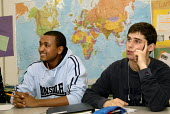 An Oromo refugee, who came to the UK as a refugee from Ethiopia under the Gateway Protection Programme, at his sixth form college in Brighton, UK 2007 - Howard Davies - 25-01-2007