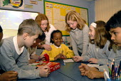 An Oromo refugee, who came to the UK as a refugee from Ethiopia under the Gateway Protection Programme, at her primary school in Brighton, UK 2007 - Howard Davies - 2000s,2007,aid agency,assistance,BAME,BAMEs,Black,BME,bmes,child,CHILDHOOD,children,cultural,Diaspora,displaced,diversity,edu education,education,Ethiopia,ethnic,ethnicity,female,females,foreign,forei