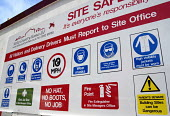 Health and safety signs displayed outside a Brighton building site, UK 2007 - Howard Davies - 17-06-2007