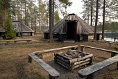 Traditional Sami houses displayed at a Sami cultural centre in northern Sweden. The Sami are the indigenous people of Sapmi whose ancestral land spans four countries across northern Europe. 2006 - Howard Davies - 2000s,2006,ACE,ace culture,AGRICULTURAL,agriculture,ancestral,architecture,arts,bme minority ethnic,buildings,capitalism,capitalist,culture,EBF Economy,eu,europe,european,europeans,house,houses,housin