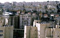 Israeli settlement of Pisgat Zeev being expanded in East Jerusalem. West Bank 2003 - Howard Davies - 01-07-2003