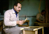An income generation project supported by SCF for visually impaired and blind Palestinians in Gaza. 1992 - Howard Davies - 01-05-1992