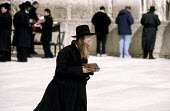 Orthodox Jews praying at the Wailing or Western Wall in the old city of Jerusalem. 2003 - Howard Davies - 01-07-2003