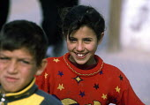 Bedouin children, whose families became refugees when they were forced to leave Beersheba in 1948, in a village south of Gaza city, which has become isolated because of Israeli army restrictions on th... - Howard Davies - 2000s,2003,and,arab,arabs,bank,BANKS,CHILD,CHILDHOOD,children,Diaspora,displaced,foreign,foreigner,foreigners,gaza,immigrant,IMMIGRANTS,immigration,isolated,Israeli,juvenile,juveniles,kid,kids,leave,m