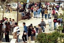 Palestinian students studying at Bir Zeit University, West Bank. 1993 - Howard Davies - 01-07-1993