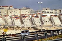 Pisgat Zeev an Israeli settlement being built upon the Palestinian West Bank. 1993 - Howard Davies - 01-07-1993