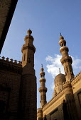 View of the minarets of Mosque of Ar-Rifai, in Cairo. - Howard Davies - 2000s,2006,ACE,ace arts culture,african,Africans,arab,arabic,arabs,architectural,architecture,arts,building,buildings,culture,egypt,egyptian,feature,features,islam,Islamic,middle east,Minaret,Minarets