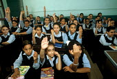 Egyptian school girls in a lesson. - Howard Davies - 14-10-2005