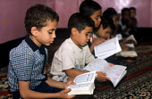 Egyptian children studying at a Quran school, Luxor, Egypt 2005 - Howard Davies - 14-10-2005