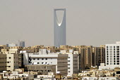 The Kingdom Tower dominating the skyline of Riyadh, Saudi Arabia 2006 - Howard Davies - 2000s,2006,ACE,arab,arabs,architecture,arts,Award,Becket,Berry,bought,building,buildings,business,businesses,buy,buyer,buyers,buying,centre,cities,city,cityscape,cityscapes,commodities,commodity,consu