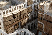 Old merchants houses with traditional wooden shutters in Old Jeddah, Saudi Arabia 2006 - Howard Davies - 26-09-2006