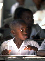 Children at a rural school. Uganda. 1998 - Jim Holmes - 03-07-1998