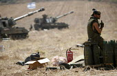 Israeli soldiers on Lebanon border. Reservist soldiers take a break from the fighting. - Thomas Morley - 07-08-2006