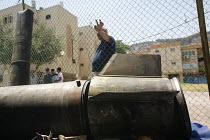 Quiriat Shemona. Israel. A display of rockets fired by Hezbollah. - Thomas Morley - 04-08-2006