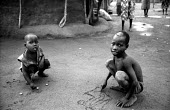 Acholi children in an IDP camp for Acholi displaced by the violent conflict waged between the Ugandan Government army - UPDF - and the Lords Resistance Army in northern Uganda for 20 years. More than... - Thomas Morley - 16-02-2005