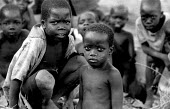 Acholi children in an IDP camp for Acholi displaced by the violent conflict waged between the Ugandan Government army - UPDF - and the Lords Resistance Army in northern Uganda for 20 years. More than... - Thomas Morley - 05-02-2005