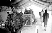SPLA soldiers at the funeral of Dr John Garang of the SPLA who died in a helicopter accident. Garang had also been made vice president of Sudan following the peace settlement with the Government. Rumb... - Thomas Morley - 12-09-2005
