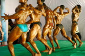 Mr. India competition held in Hyderabad, India. In an increasingly body conscious society, bodybuilding is the fastest growing sport in India amongst young men. Steroid use is rife in the sport. - Tom Parker - 10-02-2007