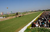 The Mumbai Derby, where the citys rich and famous come to watch the horse racing and bet. Gambling in India is largely illegal. - Tom Parker - 2000s,2007,animal,animals,Asia,asian,asians,bet,bets,betting,course,courses,domesticated ungulate,domesticated ungulates,equestrian,equine,gamble,gambler,gambling,grass,horse,horse racing,horses,India