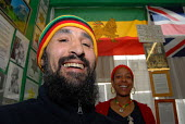 Two members of the Haile Selassie I Peace Foundation in their HQ, Handsworth, Birmingham - Timm Sonnenschein - 11-04-2006