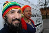 Two members of the Haile Selassie I Peace Foundation in Handsworth Birmingham - Timm Sonnenschein - 11-04-2006