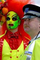 Drag Queen with a policeman on the Birmingham Pride Parade - Timm Sonnenschein - 28-05-2006