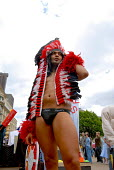 Gay man dressed as an Amarican Indian on the Birmingham Pride Parade - Timm Sonnenschein - 28-05-2006