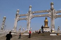 33 meter high Kuan Yin sculpture, Pu Tuo Shan, China - Timm Sonnenschein - 2000s,2005,33,ace art arts culture,Amitabha,archetypal,archetype,artwork,artworks,bodhisattva,bodhisattvas,Buddha,Buddha's,Buddhism,Buddhist,buddhists,China,Chinese,cosmological,cosmology,deities,deit