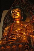 Buddha Amitabha, Jade Buddha Temple, Shanghai, China - Timm Sonnenschein - 2000s,2005,ace art arts culture,Amitabha,Amitabhas,artwork,artworks,Buddha,Buddha's,Buddhism,Buddhist,buddhists,China,Chinese,compassion,compassionate,covered,deities,deity,dhamma,dharma,figure,figure