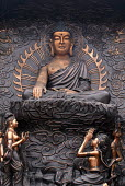 Relief sculpture depicting Shakyamuni Buddha on the verge of gaining Enlightenment with some of maras daughters, Wuxi, China - Timm Sonnenschein - 2000s,2006,ace,art,arts,artwork,artworks,belief,Bodhisattva,Bodhisattvas,bronze,Buddha,Buddha's,Buddhism,buddhist,buddhists,China,Chinese,compassion,compassionate,conviction,culture,deities,deity,dham